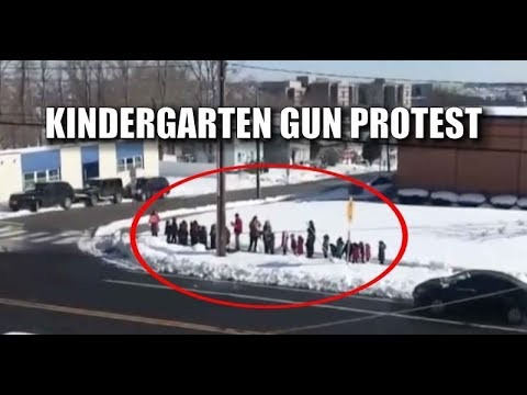 A kindergarten gun control walkout and parents didn't know about it.
