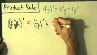 Calculus I - Derivatives - Product Rule - Example 3 - Three Factors