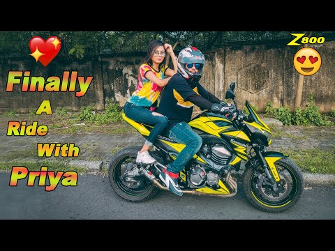 Finally a Perfect Ride With Priya on My Superbike Z800 ||  ***Must Watch Her Reaction***