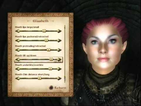Oblivion - Full face information for Elisabeth character / PS3