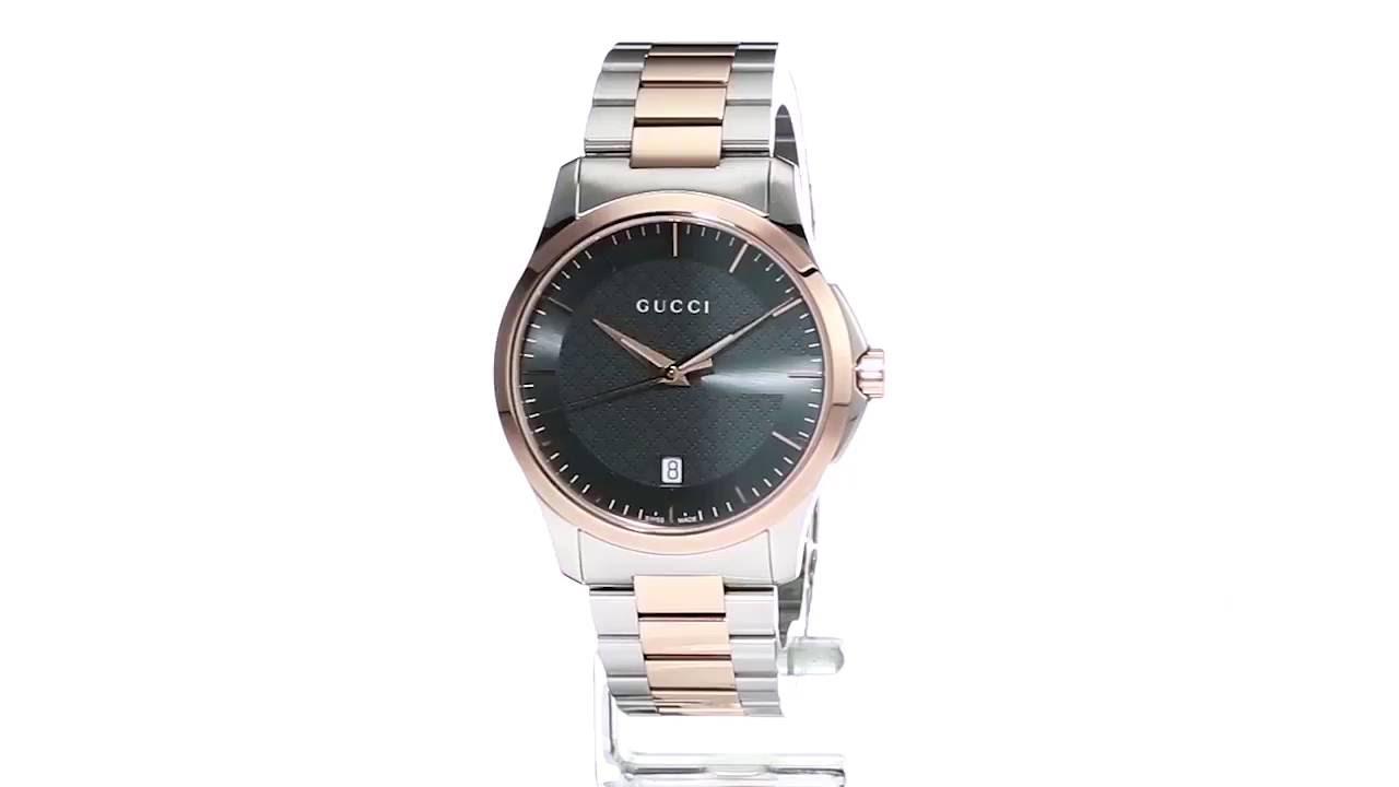 9653b837514 Gucci - G-Timeless 38mm Bracelet - YA126446 SKU 8800108 - YouTube