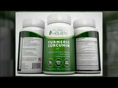 Turmeric Curcumin Capsules 100% - with BioPerine Black Pepper Extract - Without This it Won't Work
