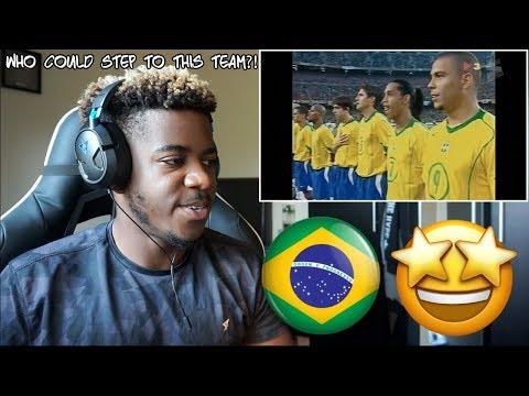 QUANDO DAVA MEDO DA SELEÇÃO BRASILEIRA - Ronaldinho Ronaldo Kaka Adriano etc 🇧🇷  Reaction