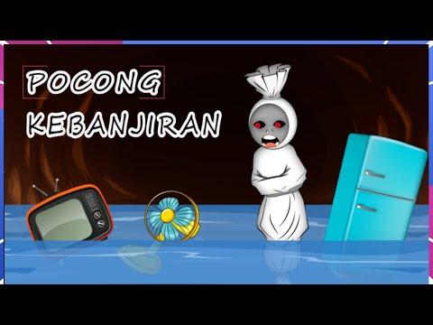Pocong Kebanjiran - Kartun Hantu Lucu Pocong Hanyut - Firma Animation