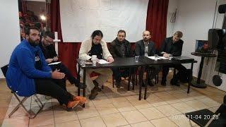 """Конференция на тему """"Донбасс, неизвестная война"""" «Donbass,ο άγνωστος πόλεμος»."""