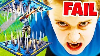 SPIKE TRAP *FAIL* (Best Fortnite Battle Royale Moments in History) #5