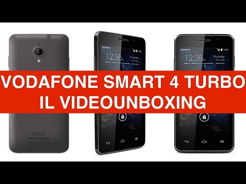 Video unboxing Vodafone Smart 4 Turbo, Telefono 4G LTE Low Cost
