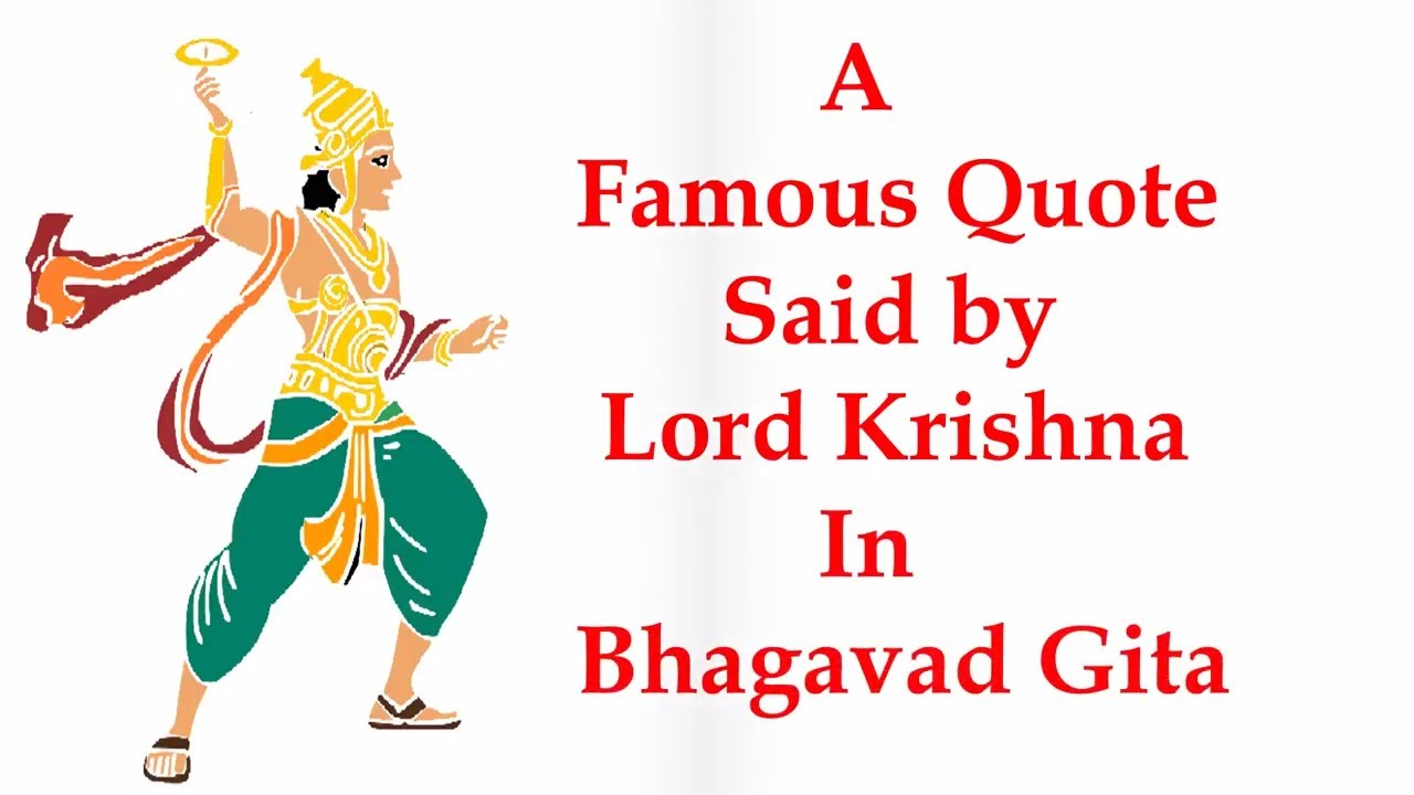 A Famous Quote By Lord Krishna Whatsapp Status Video Youtube