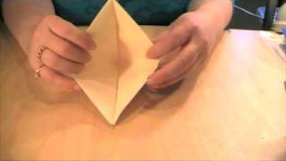 Origami Hat Transforms Into Boat