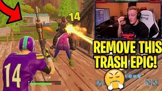 Faze Tfue Showing And Explaining Why Gray Burst is Trash | Fortnite ...