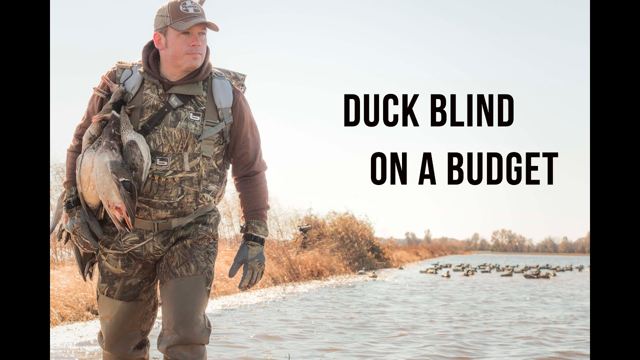 How To Build A Duck Blind Fast Cheap And Effective Youtube