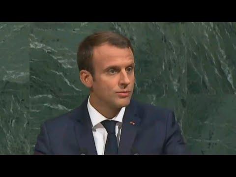 UN General Assembly: Macron defends Iran deal, Paris climate accord