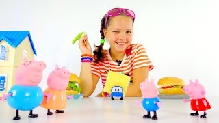 Рецепты вкусняшек - гамбургер для свинки Пеппы