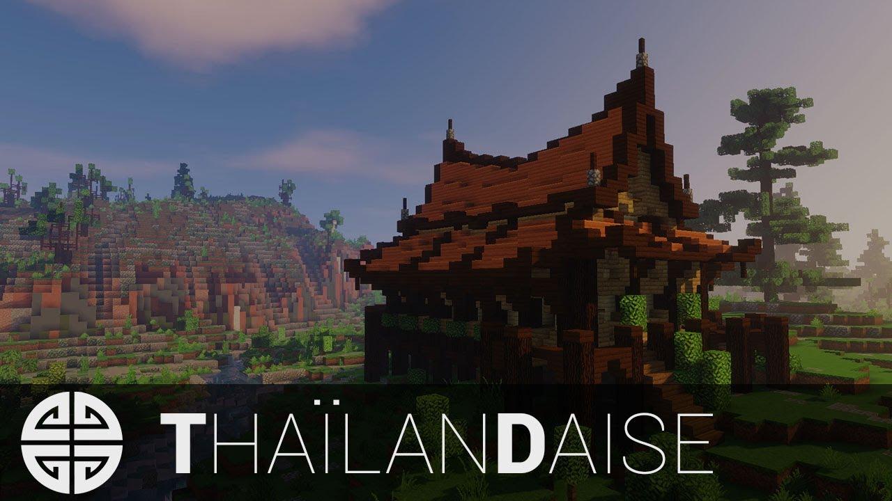 Maison Japonaise Traditionnelle Construire tuto - minecraft │ maison asiatique/thaïlandaise [fr]