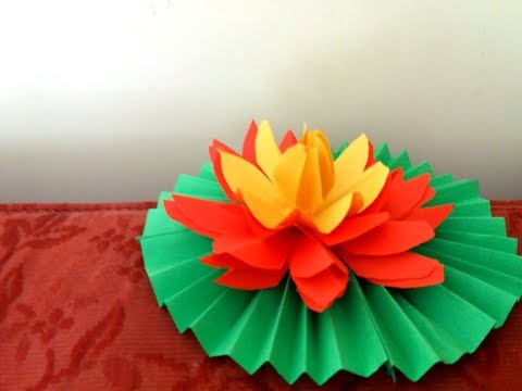 How to make easy lotus / water lily from paper | DIY  🌼