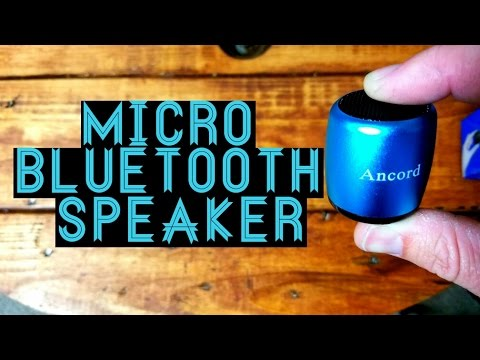 Worlds Smallest Bluetooth Speaker? Thumb size micro bluetooth speaker from Ancord