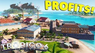 Tropico 6 - Ep. 02: BIG MONEY, BIG INDUSTRY, BIG PLANS | Tropico 6 Sandbox Mode Gameplay