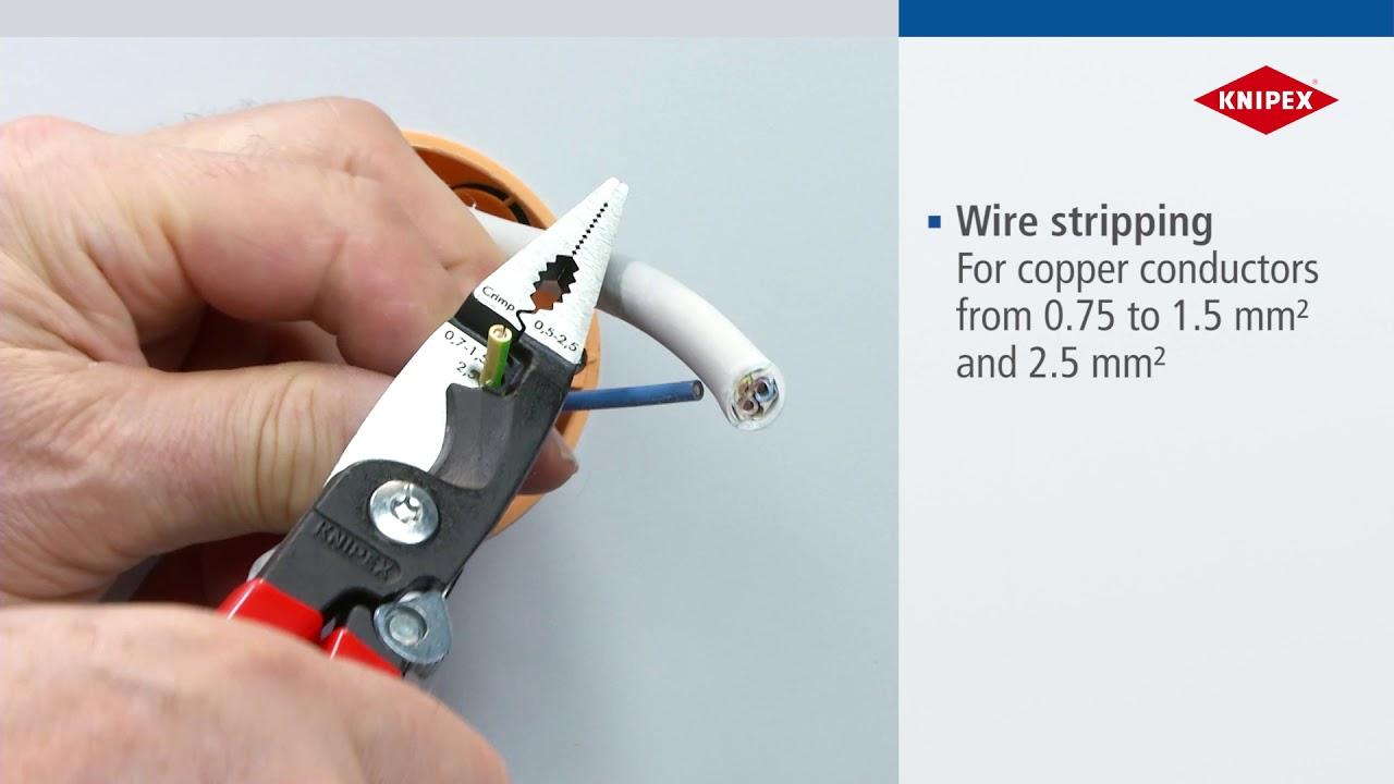 KNIPEX szerelőfogó saruzóval, PVC nyél, rugós – 13 91 200 - YouTube