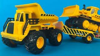 New Bright 4X4 Construction Dump Truck & Trailer for bulldozer - construction toys for kids