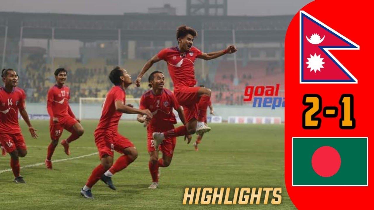 Download Nepal VS Bangladesh 2-1 Goals Finals Highlights Tri Nation Football Tournament 2021