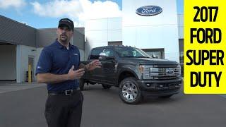2017 Ford Super Duty Platinum Exterior and Interior Walkaround