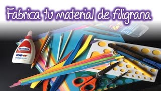 Fabrica tu material y herramientas basicas para filigrana ,  materials and basic tools for Quilling
