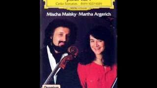 Argerich / Maisky: Cello Sonata in G minor, BWV 1029 - Allegro (Bach) - DG, 1985