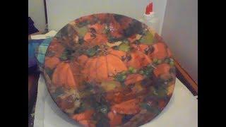 على زجاج  ىديكيوباج على طبق صين  او زجاج Decoupage on Glass-- ازاى تعملى الدكيوباج على اى   طبق-