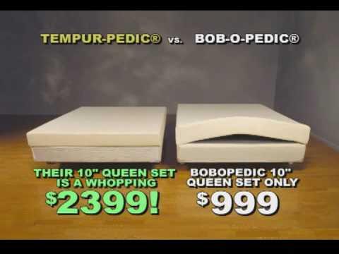 Tempurpedic Mattress vs Bobopedic Mattress mercial