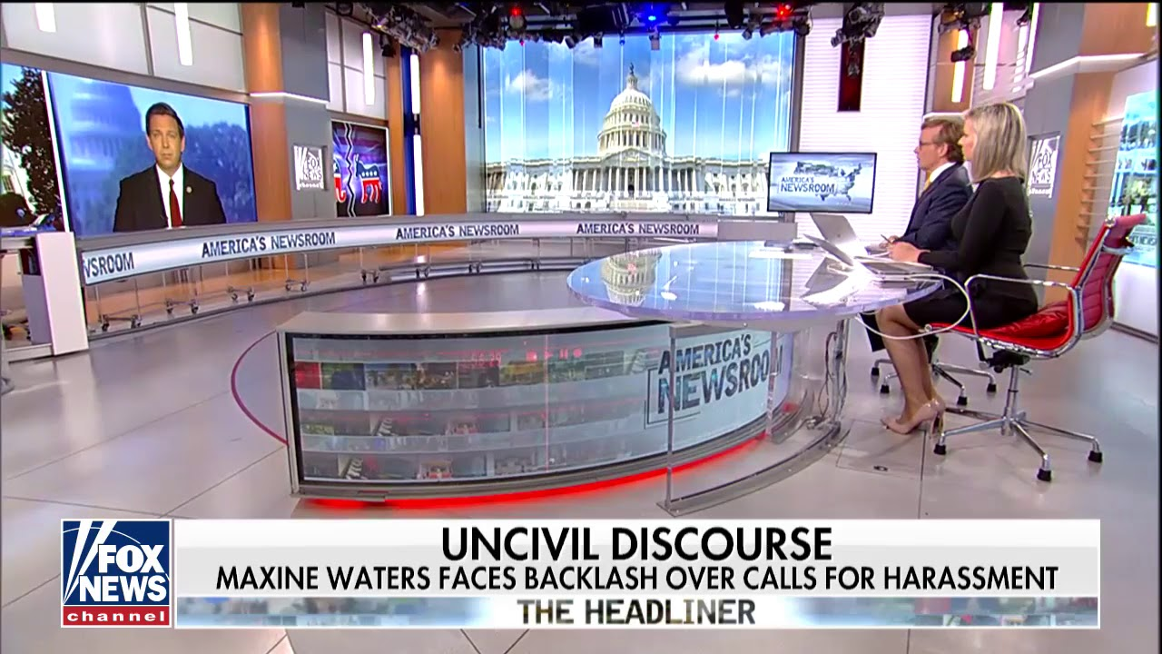 Desantis Says Waters Is The Pied Piper For The Unhinged Left