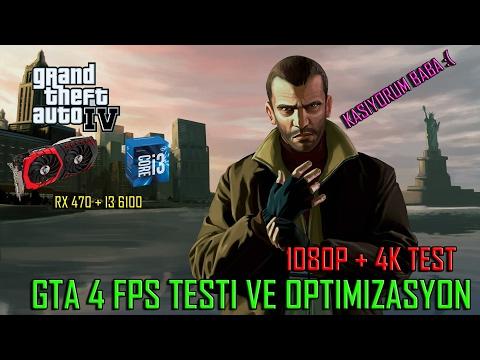 GTA 4 FPS TESTİ (1080P + 4K GRAFİKLER)