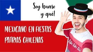 FIESTAS PATRIAS CHILE 🇨🇱por un MEXICANO 🇲🇽| FONDAS Y CUECA | ROGER GIL