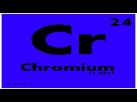 Study Guide 24 Chromium Periodic Table Of Elements Youtube