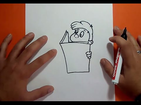 Como Dibujar A Un Niño Leyendo Paso A Paso How To Draw A Child Reading