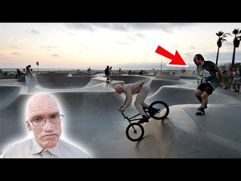 *OLD MAN RIDING A BMX* THINGS GOT CRAZY!