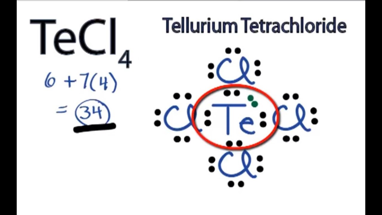 Xecl2 Molecular Geometry TeCl4 Lewis Structure:...