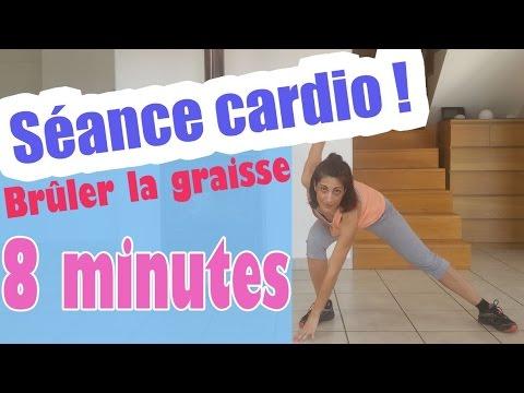 8 Minutes Cardio Pour Brûler Les Graisses - YouTube