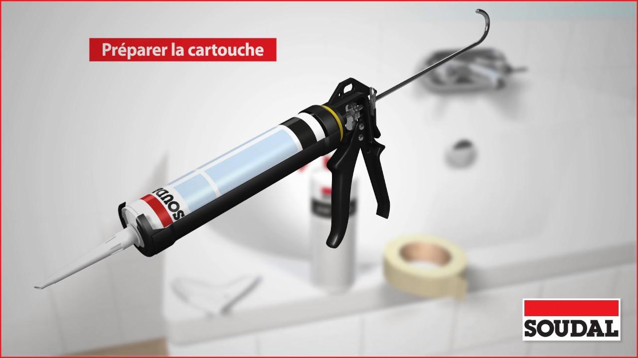 appliquer un silicone sanitaire dans une salle de bains - youtube - Silicone Salle De Bain