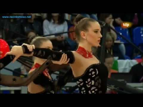 5 balls and 3 ribbons and 2 hoops Final Groups European Championship Nizhny Novgorod 2012