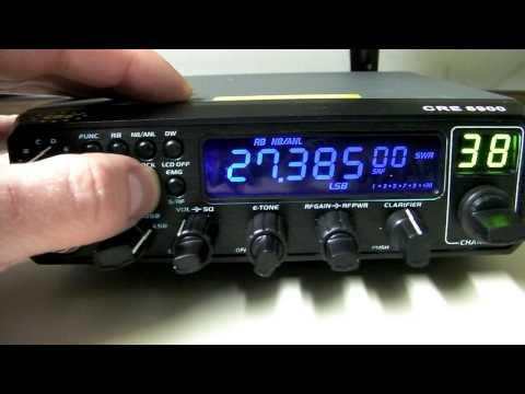 CRE 8900 10 Meter AM FM SSB Ham CB Radio - Overview