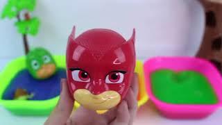Pj面具粘泥浴英雄睡衣玩具惊喜学习颜色