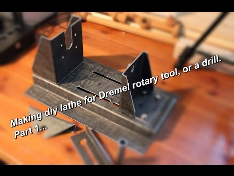 "Metal working: Making ""Dremelathe"" small rotary tool powered lathe Part 1. (Workstation part 2)"