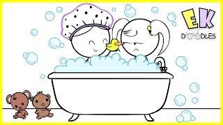 Emma & Kate ''Night Routine Schwierigkeiten'' EK - Doodles, Lustige Karikatur, Animation