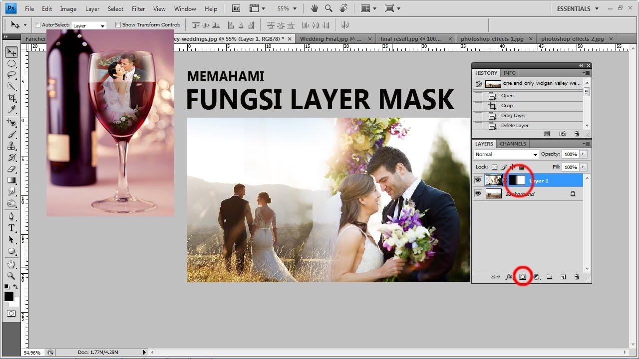 Fungsi Layer Mask Pada Photoshop - Tutorial Photoshop