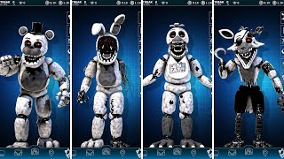 FNAF AR 4th Closet Withered Animatronics Workshop Animations