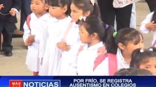 Por frió se registra ausentismo en colegios