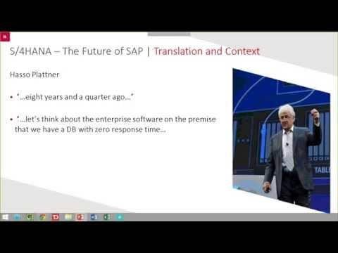 Webinar Recording: SAP Business Suite 4 SAP HANA (S/4 HANA) 30-07-2015