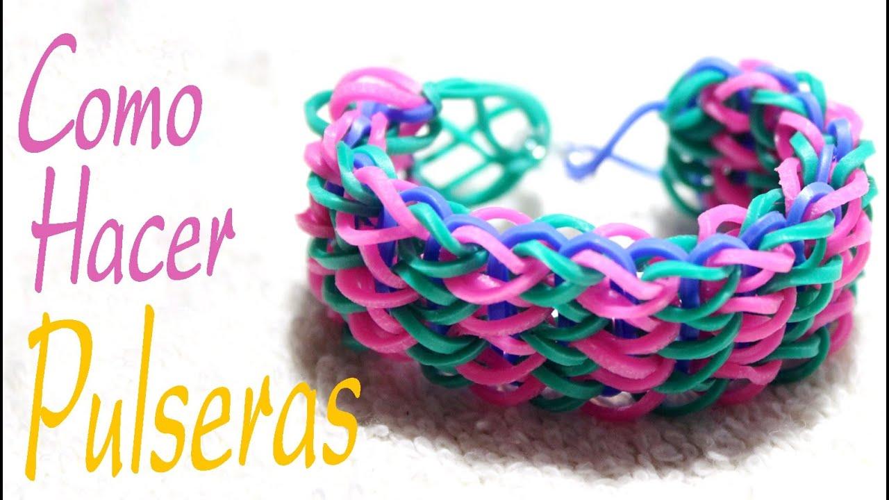 Como Hacer Pulseras De Goma Pulseras De Goma Rainbow Bracelets Youtube