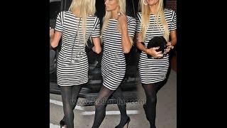 Çizgili Elbise Modelleri