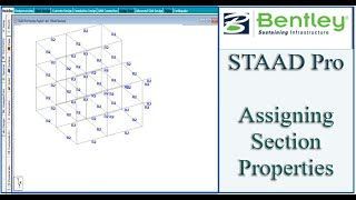 STAAD Pro Tutorial For Beginners [Episode 14]: Assigning Section Properties